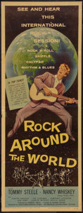 "Movie Posters:Rock and Roll, Rock Around the World (American International, 1957). Insert (14"" X36""). Rock and Roll.. ..."