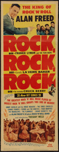 "Movie Posters:Rock and Roll, Rock, Rock, Rock (DCA, 1956). Insert (14"" X 36""), Title Card &Lobby Card (11"" X 14""). Rock and Roll.. ... (Total: 3 Items)"