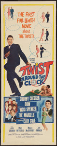 "Movie Posters:Rock and Roll, Twist Around the Clock (Columbia, 1961). Insert (14"" X 36""). Rockand Roll.. ..."