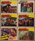 "Movie Posters:Western, The Law West of Tombstone and Other Lot (RKO, 1938). Title Lobby Card and Lobby Cards (5) (11"" X 14""). Western.. ... (Total: 6 Items)"