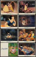 """Movie Posters:Animation, Snow White and the Seven Dwarfs (The Walt Disney Company, R-1987).International Lobby Card Set of 8 (11"""" X 14""""). Animation....(Total: 8 Items)"""