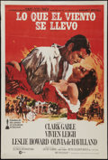 "Movie Posters:Academy Award Winners, Gone with the Wind (MGM, R-1974). Argentinean Poster (29"" X 43"").Academy Award Winners.. ..."