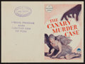 """Movie Posters:Crime, The Canary Murder Case (Paramount, 1929). Australian Herald (7.5"""" x10""""). Crime.. ..."""