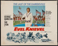 """Movie Posters:Action, Evel Knievel (Fanfare, 1971). Half Sheet (22"""" X 28""""). Action.. ..."""