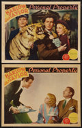"""Movie Posters:Romance, Personal Property (MGM, 1937). Lobby Cards (2) (11"""" X 14"""").Romance.. ... (Total: 2 Items)"""