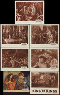 "Movie Posters:Historical Drama, The King of Kings (Pathé, 1927 & R-1940s). Title Lobby Card& Lobby Cards (6) (10"" X 12.5"" & 11"" X 14""). HistoricalDrama.. ... (Total: 7 Items)"