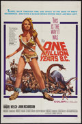 "Movie Posters:Fantasy, One Million Years B.C. (20th Century Fox, 1966). One Sheet (27"" X 41""). Fantasy.. ..."