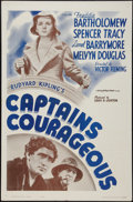"Movie Posters:Adventure, Captains Courageous (MGM, R-1962). One Sheet (27"" X 41"").Adventure.. ..."