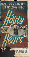 "Movie Posters:War, Hasty Heart & Other Lot (Warner Brothers, 1950). Three Sheets(2) (40"" X 78"" & 41"" X 77""). War.. ... (Total: 2 Items)"