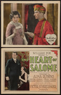 """Movie Posters:Romance, The Heart of Salome (Fox, 1927). Title Lobby Card & Lobby Card (11"""" X 14""""). Romance.. ... (Total: 2 Items)"""