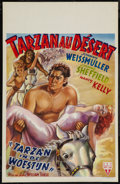 "Movie Posters:Adventure, Tarzan's Desert Mystery (RKO, 1940s). First Post-War Belgian (14"" X21.5""). Adventure.. ..."