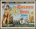 "Movie Posters:Adventure, The Golden Idol (Allied Artists, 1954). Half Sheet (22"" X 28"").Adventure.. ..."