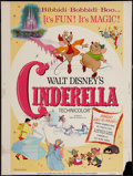 "Movie Posters:Animation, Cinderella (Buena Vista, R-1973). Poster (30"" X 40""). Animation.. ..."