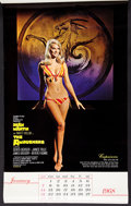 "Movie Posters:Action, The Ambushers (Columbia, 1967). Pinup Calendar (Multiple Pages)(13"" X 21.5""). Action.. ..."
