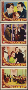 "Movie Posters:Drama, Confessions of a Nazi Spy (Warner Brothers, 1939). Lobby Cards (4)(11"" X 14""). Drama.. ... (Total: 4 Items)"