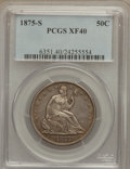 Seated Half Dollars: , 1875-S 50C XF40 PCGS. PCGS Population (9/300). NGC Census: (2/234).Mintage: 3,200,000. Numismedia Wsl. Price for problem f...