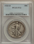 Walking Liberty Half Dollars: , 1920-D 50C Fine 12 PCGS. PCGS Population (37/433). NGC Census:(7/249). Mintage: 1,551,000. Numismedia Wsl. Price for probl...
