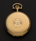 Timepieces:Pocket (post 1900), Waltham 14k Gold 12 Size 17 Jewel Hunter's Case Pocket Watch. ...