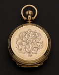 Timepieces:Pocket (post 1900), Elgin 11 Jewel 8 Size 18k Heavy Box Hinged Hunter's Case PocketWatch. ...