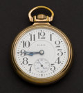 Timepieces:Pocket (post 1900), Elgin 19 Jewel B.W. Raymond Pocket Watch. ...