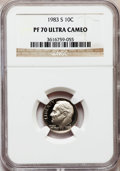 Proof Roosevelt Dimes: , 1983-S 10C PR70 Ultra Cameo NGC. NGC Census: (161). PCGS Population(142). Numismedia Wsl. Price for problem free NGC/PCGS...