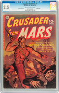 Golden Age (1938-1955):Science Fiction, Crusader from Mars #1 (Ziff-Davis, 1952) CGC GD+ 2.5 Off-white towhite pages....