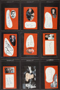 Basketball Collectibles:Others, Basketball Legends Signed Cut Signature Cards Lot of 9....