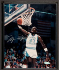 Basketball Collectibles:Photos, Michael Jordan Signed Upper Deck Authenticated Photograph....