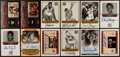 Basketball Cards:Lots, Basketball Legends Signed Cards Lot of 12....