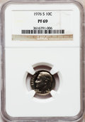 Proof Roosevelt Dimes: , 1976-S 10C PR69 NGC. NGC Census: (14/0). PCGS Population (25/0).Mintage: 4,149,730. Numismedia Wsl. Price for problem free...