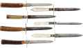 Edged Weapons:Daggers, Group of 7 Vintage Dirks... (Total: 7 Items)