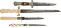 Edged Weapons:Daggers, Group of 4 Decorative Handle Dirks... (Total: 4 Items)