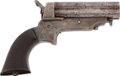"""Military & Patriotic:Civil War, Sharps Breech Loading Pepperbox Pistol Model 1A Cal. .30, Inscribed to """"G.W. Freas 1st Regt Pa""""...."""