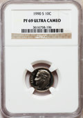 Proof Roosevelt Dimes: , 1990-S 10C PR69 Ultra Cameo NGC. NGC Census: (383/153). PCGSPopulation (3095/252). Numismedia Wsl. Price for problem free...