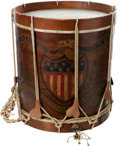 Military & Patriotic:Pre-Civil War, Great American Paint Decorated Eagle Drum with Unit ID....