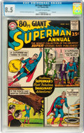 Silver Age (1956-1969):Superhero, 80 Page Giant #1 Superman Annual (DC, 1964) CGC VF+ 8.5 Off-white to white pages....