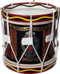 Militaria:Uniforms, British 1st Battalion Princess of Wales's Royal RegimentHand-Painted Drum, Circa 1992....