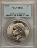 Eisenhower Dollars, (5)1978 $1 MS65 PCGS.... (Total: 5 coins)