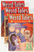 Pulps:Horror, Weird Tales Group (Popular Fiction, 1932) Condition: Average VG-.... (Total: 3 Items)