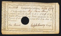Colonial Notes:Connecticut, Connecticut Interest Payment £1 February 4, 1790 Very Fine, HOC.....