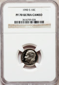 Proof Roosevelt Dimes: , 1990-S 10C PR70 Ultra Cameo NGC. NGC Census: (153). PCGS Population(252). Numismedia Wsl. Price for problem free NGC/PCGS...