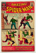 Silver Age (1956-1969):Superhero, The Amazing Spider-Man #4 (Marvel, 1963) Condition: GD/VG....