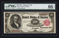 Large Size:Treasury Notes, Fr. 375 $20 1891 Treasury Note PMG Gem Uncirculated 66 EPQ.. ...