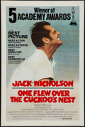 "Movie Posters:Academy Award Winners, One Flew Over the Cuckoo's Nest (United Artists, 1975).International One Sheet (27"" X 41""). Academy Awards Style. FlatFold..."