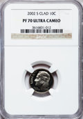 Proof Roosevelt Dimes, 2002-S 10C Clad PR70 Ultra Cameo NGC. NGC Census: (380). PCGSPopulation (153). Numismedia Wsl. Price for problem free NGC...