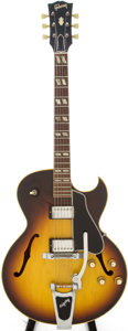 Musical Instruments:Electric Guitars, 1964 Gibson ES-175 Sunburst Semi-Hollow Body Electric Guitar,Serial # 196420....
