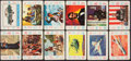 Non-Sport Cards:Sets, 1958 Cardo Playing Card Collection (150) - Five Partial Sets. ...