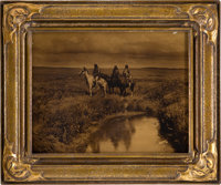 "Edward S. Curtis, Photographer. ""The Three Chiefs"" Goldtone in Original Frame"