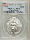 Modern Bullion Coins, 2005 $100 One-Ounce Platinum Eagle First Strike MS69 PCGS. PCGSPopulation (182/6). (#21111)...