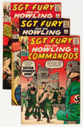 Silver Age (1956-1969):War, Sgt. Fury and His Howling Commandos Group (Marvel, 1963).... (Total: 5 Comic Books)